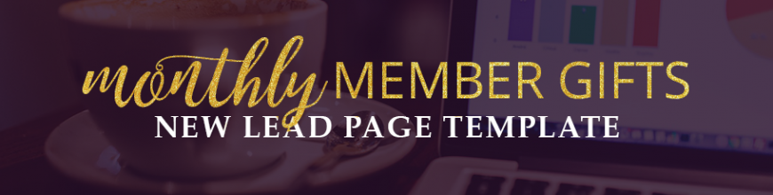 New Lead Page Template