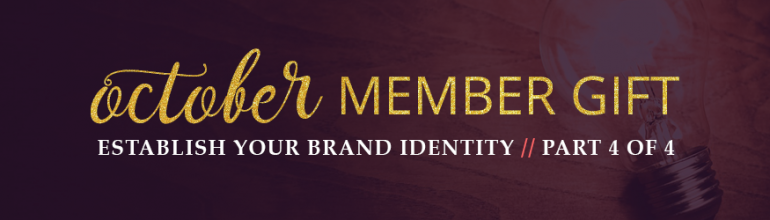 Establish your brand identity part 4